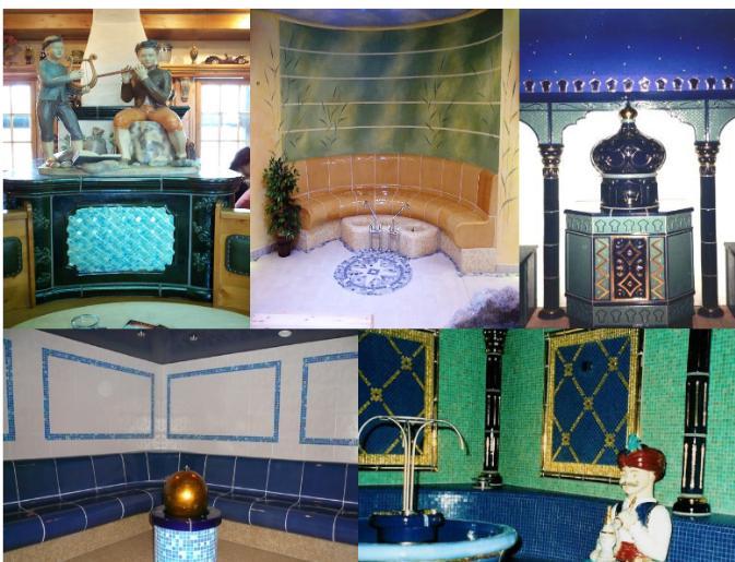 Keramik, Türportale, Saunen, Figuren, Plastiken, Statuen, Brunnen, Designelemente, Wohnaccessoires, Dekorationen